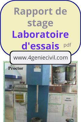 rapport de stage laboratoire essais btp ofppt hassania