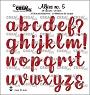 Set van 29 alfabet-stansen voor kleine letters en 3 leestekens. Set of 29 alphabet dies for lowercase letters and 3 punctuation marks.