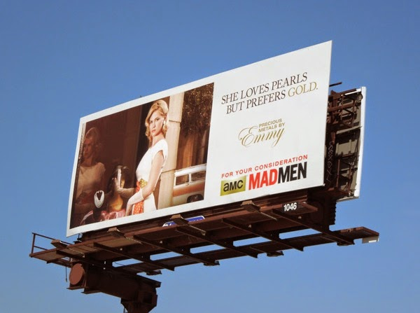 Betty Draper Mad Men loves pearls prefers gold Emmy 2014 billboard