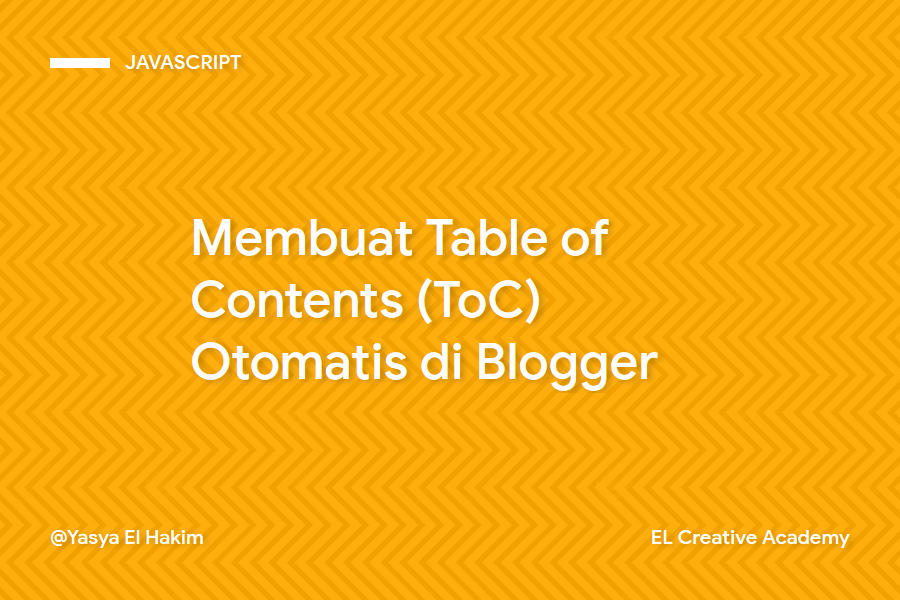 Cara Membuat Multi-Level Table of Contents (ToC) Otomatis di Blogger