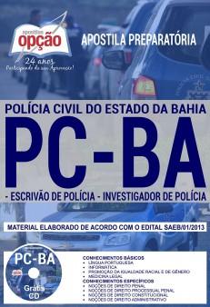 Apostila concurso Policia civil da Bahia - PC-BA