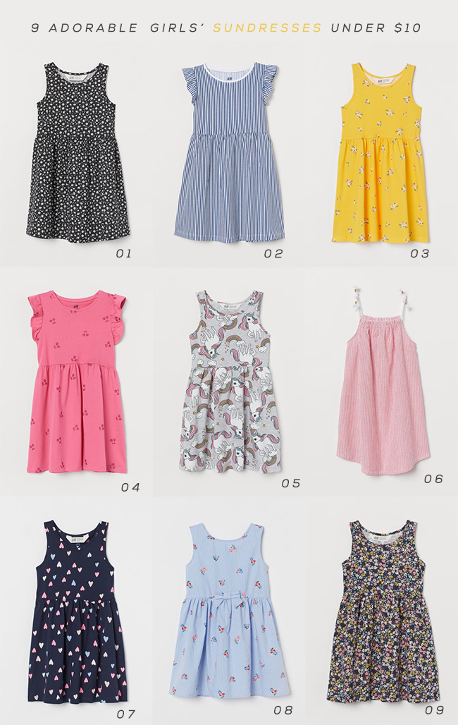 9 Girls' Sundresses Under $  10