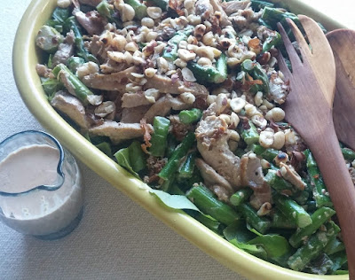 Chicken & Asparagus Salad with Hazelnuts & Miso-Ginger Mayonnaise Dressing
