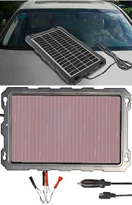 Powoxi Car Battery Chargers: 3.3Watts Trickle-Charge Solar Panels for Vehicle Battery Maintenance