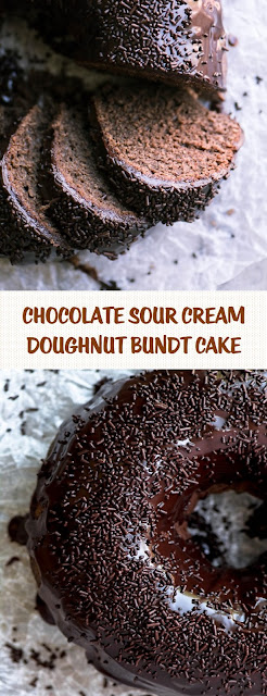 Chocolate Sour Cream Doughnut Bundt Cake