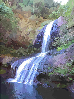 Cachoeira Quatrilho, no Parque das 8 Cachoeiras