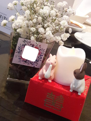 Wedding banquet table center piece