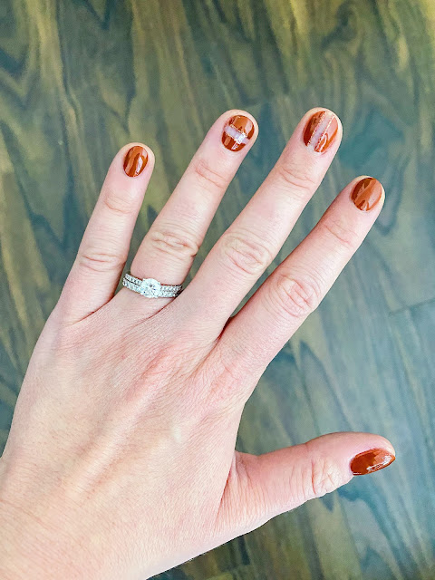 OPI Sprung, opi my italian is a little rusty, opi nail art design, fall nail art autumn