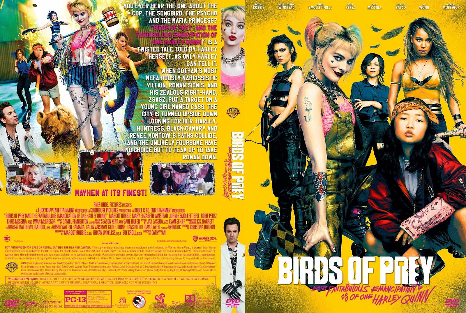 Birds Of Prey And The Fantabulous Emancipation Of One Harley Quinn Harley Quinn Birds Of Prey Dvd Cover Cover Addict Free Dvd Bluray Covers And Movie Posters