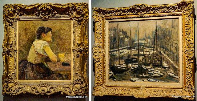 Obras de Toulouse-Lautrec e de Monet no Museu Botero, Bogotá
