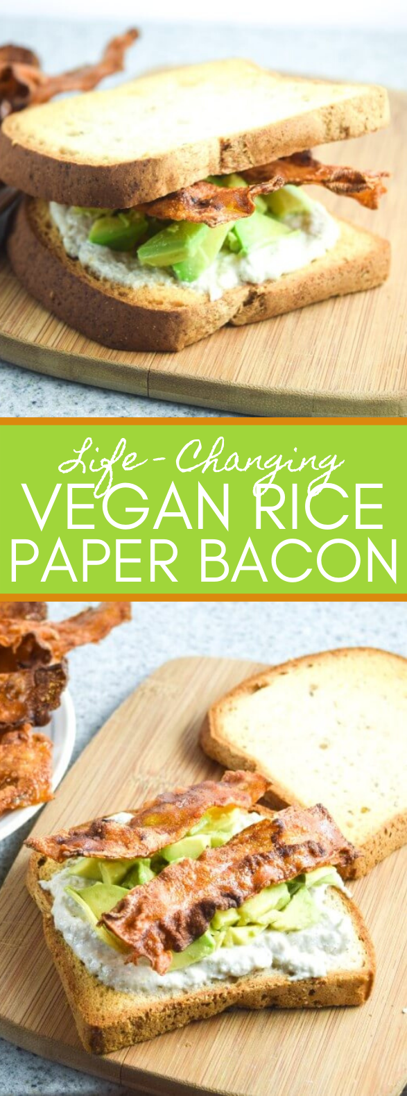 VEGAN RICE PAPER BACON (POSSIBLY LIFE-CHANGING) #vegetarian #lunch