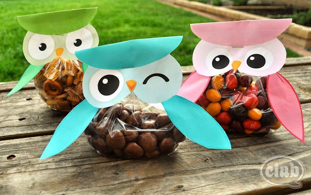 Owl: Free Printable Candy Bag.