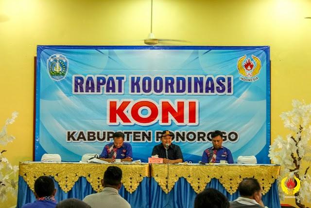 Rapat Koordinasi KONI Kabupaten Ponorogo