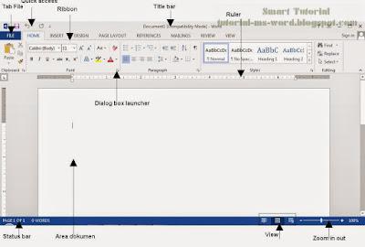Tampilan Microsoft Word 2013