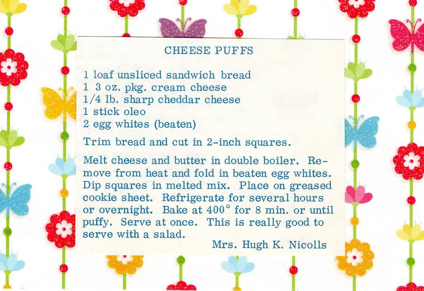 Cheese Puffs (quick recipe)