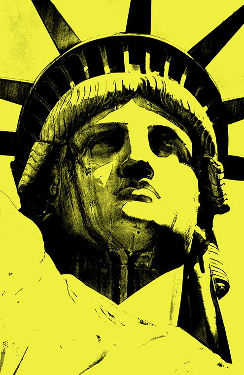 lady liberty illustration statue of liberty vector new york city por art graphic design art photoshop inkscape free estatua de la libertad nueva dibujo drawing estilo andy warhol style colors amarillo yellow