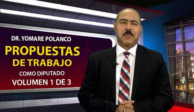 Polanco presenta  propuestas de trabajo como diputado  de  ultramar  en  tres  volúmenes
