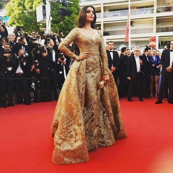 Sonam Kapoor at Cannes Film Festival Red Carpet Photos