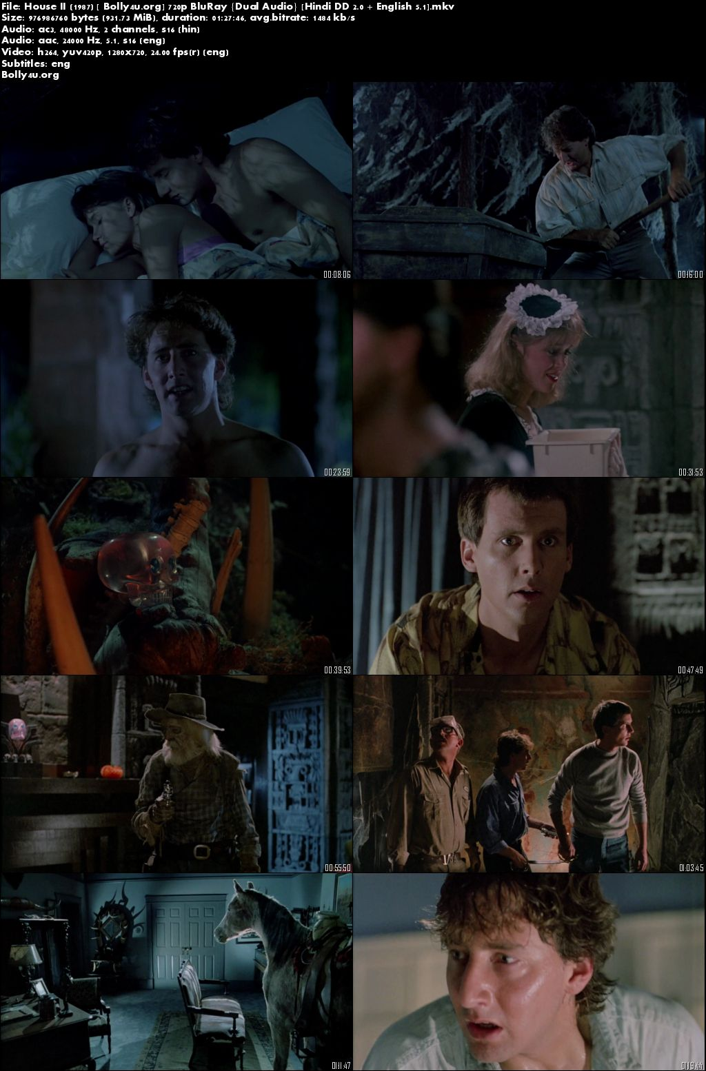 House II The Second Story 1987 Hindi Dual Audio 280MB 480p BRRip ESub Download
