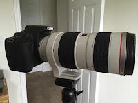 70-200 lens on tripod