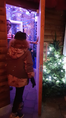 Magic door to see Santa at Chill Factore christmas grotto