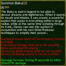 Naruto Castle Defense 6.2 Baku detail