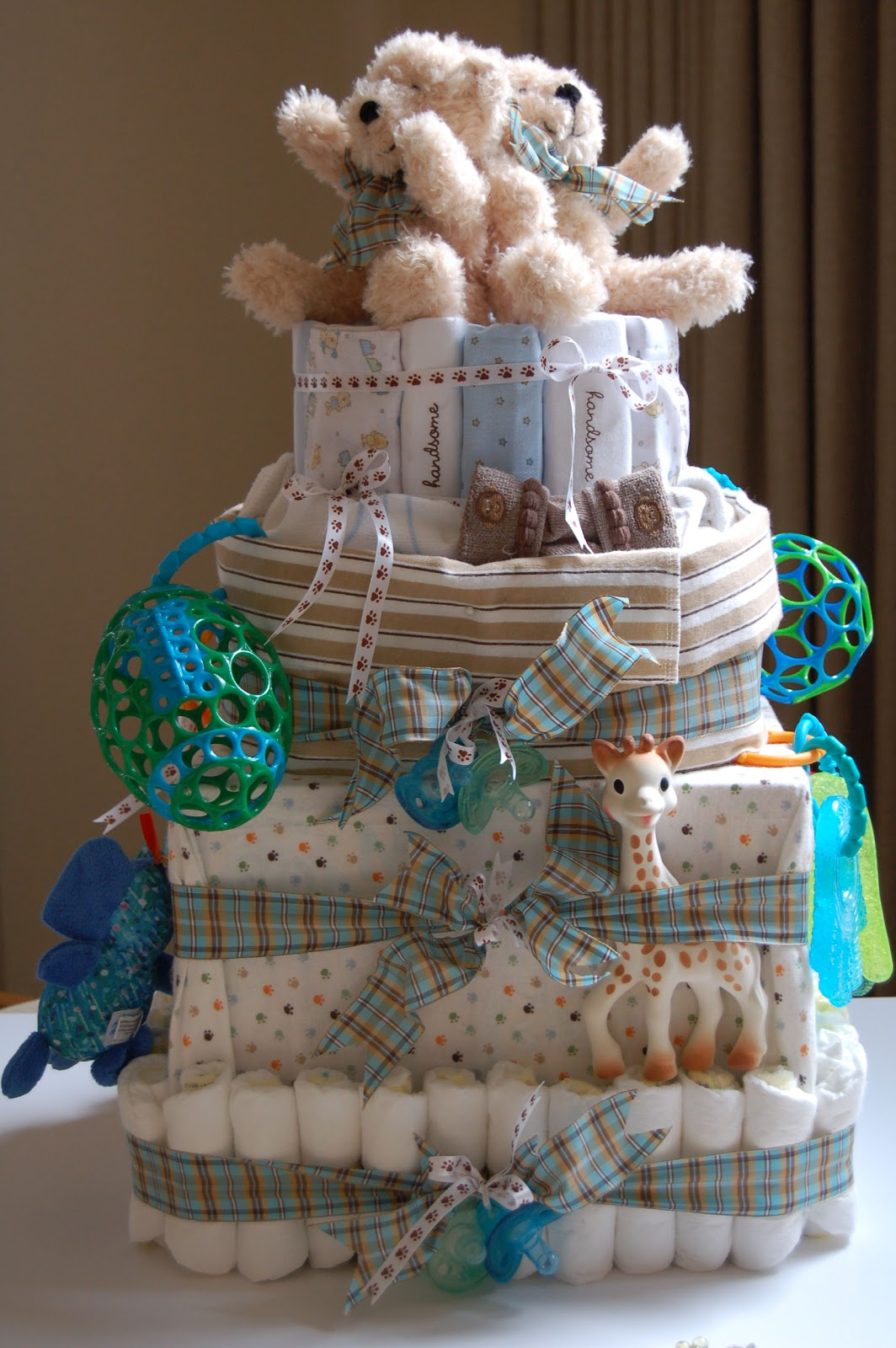 By The Way Diaper Cake For Twin Boys