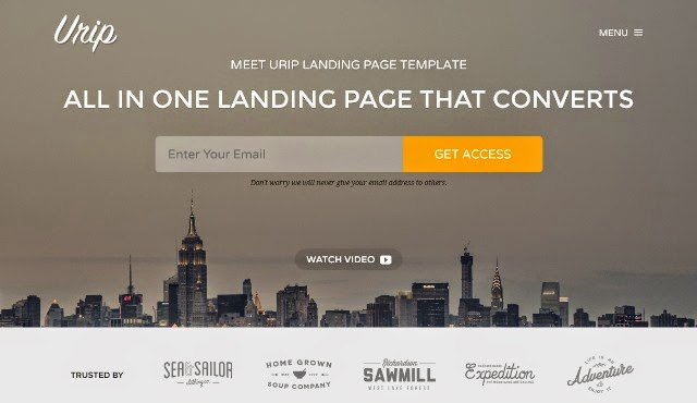 Urip - Professional Landing Page Template