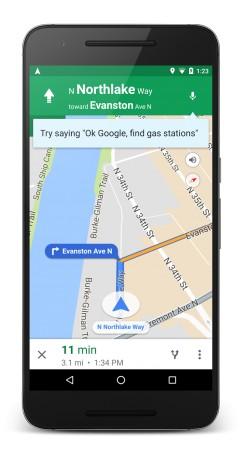 nuovi comandi vocali su Google Maps