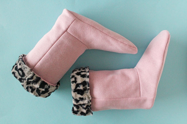 FREE slipper boot sewing pattern by Tilly and the Buttons