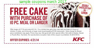 Kfc coupons march 2017