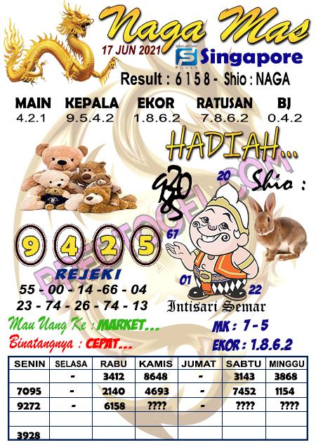 Syair Nagamas SGP kamis 17 juni 2021