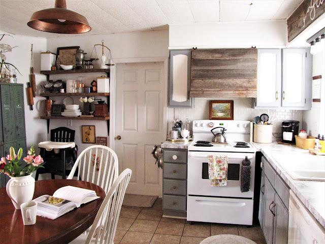 spring in a small farmhouse kitchen