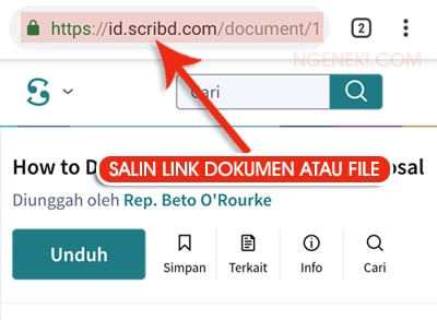 Cara Download File di Scribd Lewat HP