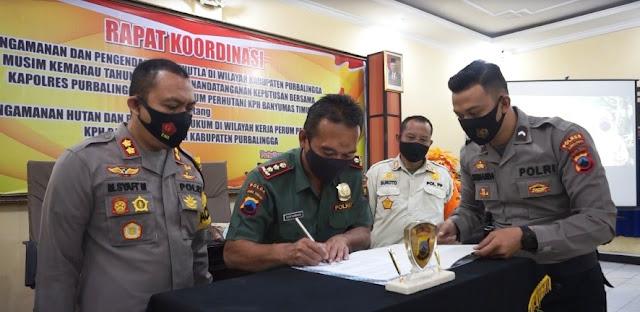 Polres Purbalingga Gelar Gelar Rakor Pengamanan dan Pengendalian Karhutla