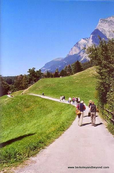 trail to Heidi's hut in Maienfeld, Switzerland