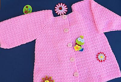 7 - Crochet Imagenes Abrigo rosa a crocher y ganchillo muy fácil y sencillo , lindo por Majovel Crochet