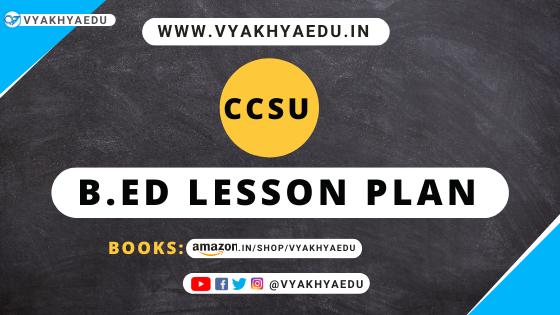 b.ed lesson plan