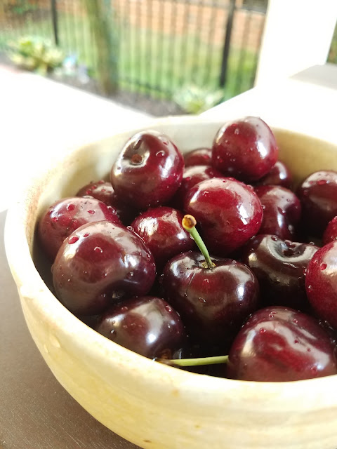 Fresh cherries are summer fruits and are in season late June, July and August.