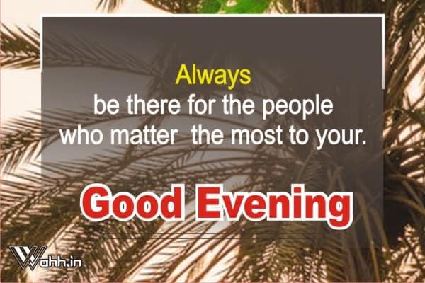Evening -Quotes