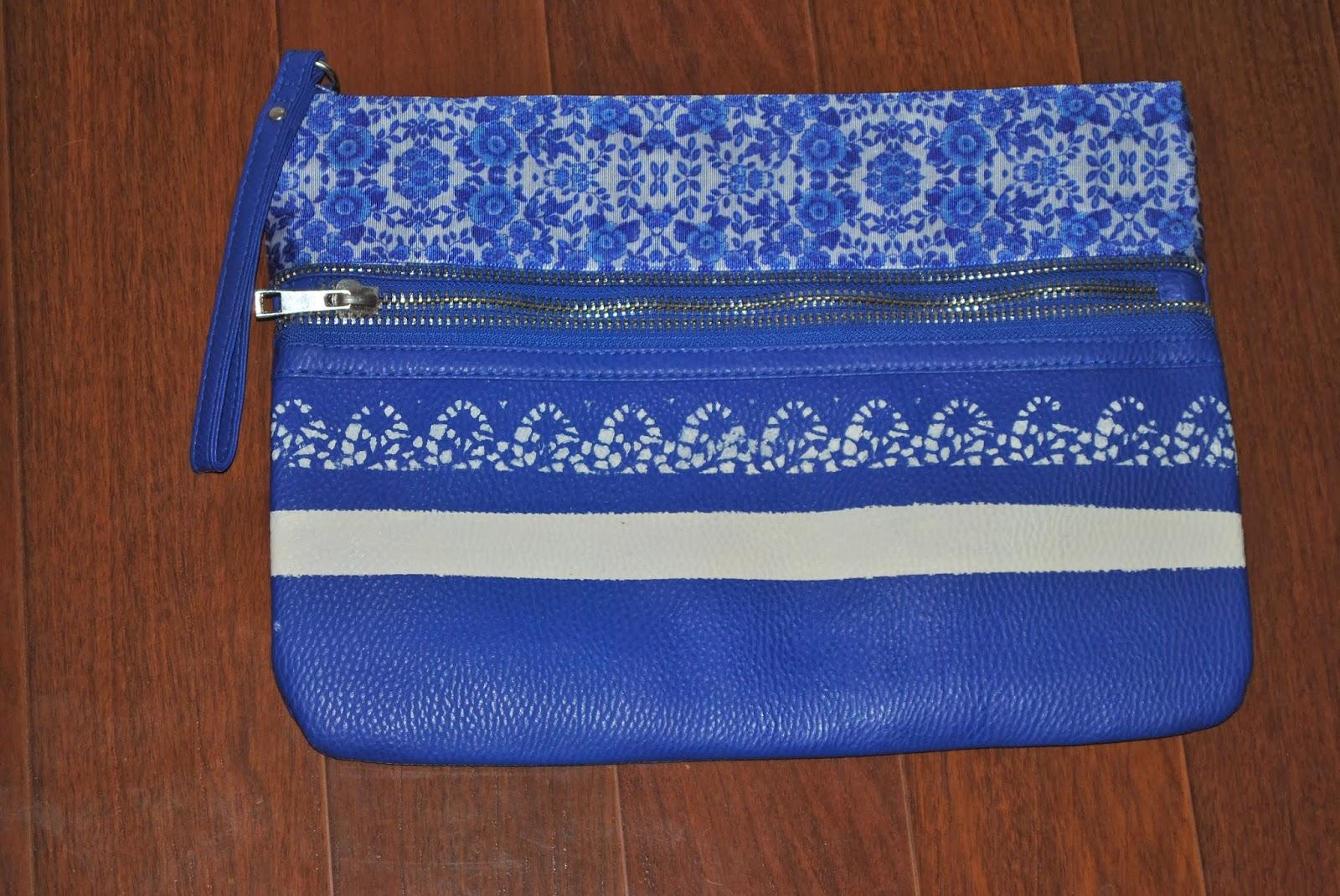 Diy nueva versión del bolso azul klein