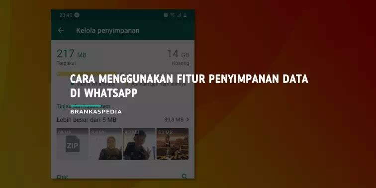 cara menggunakan fitur penyimpanan data WhatsApp