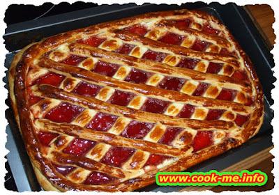 Apple and raspberry pie
