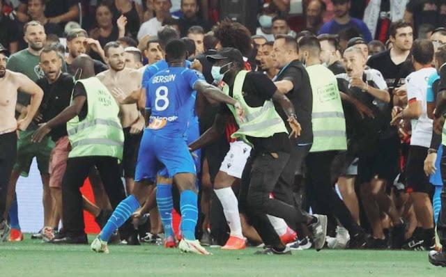 Ricuh, Liga Prancis antara OGC Nice vs Marseille dihentikan