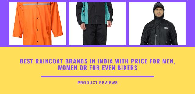 Best raincoat brands in india with price -  Top 10 raincoat manufacturer/ Brands buy online for men, women, for bikers