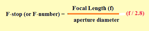(F-stop) or (F-number)