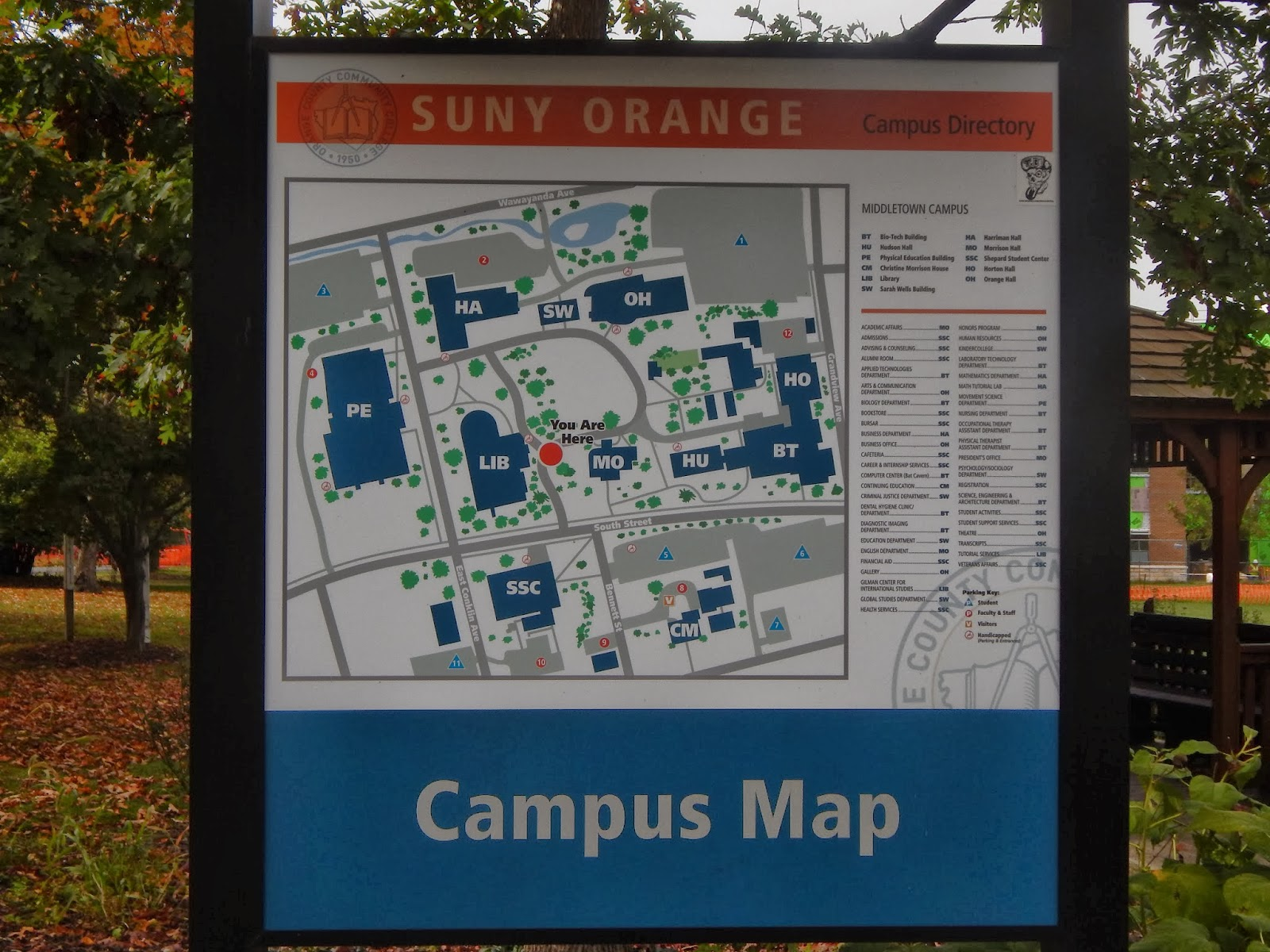 Occc Middletown Campus Map.The Charbor Chronicles Mastadon Of Orange County Community College