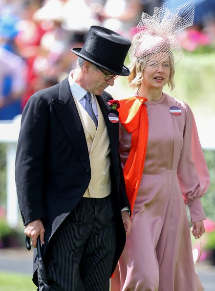 Timothy Taylor and Lady Helen Taylor on day four of Royal Ascot
