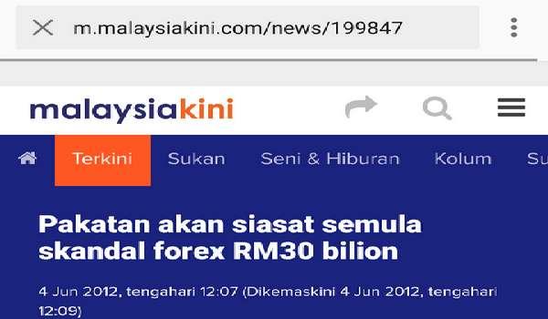 Pakatan Akan Siasat Semula Skandal Forex RM30 Bilion Sekiranya Berjaya Menawan Putrajaya - Lim Kit Siang, Ketua Umum Pakatan