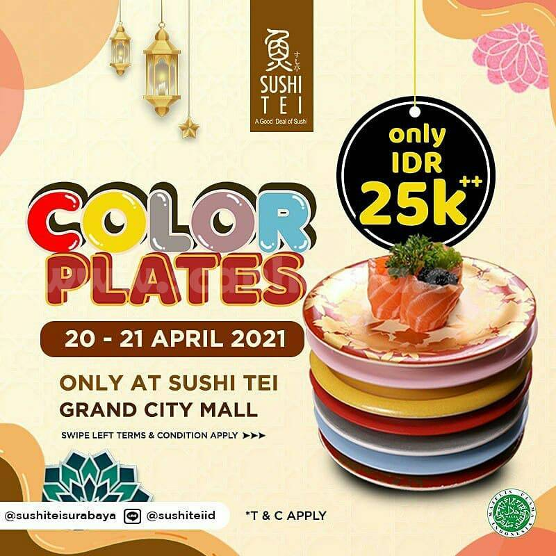 SUSHI TEI GRAND CITY MALL Promo ALL COLOR PLATE Hanya Rp 25.000++